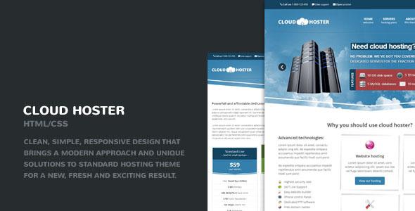 Cloud Hoster - Responsive Hosting Company Theme