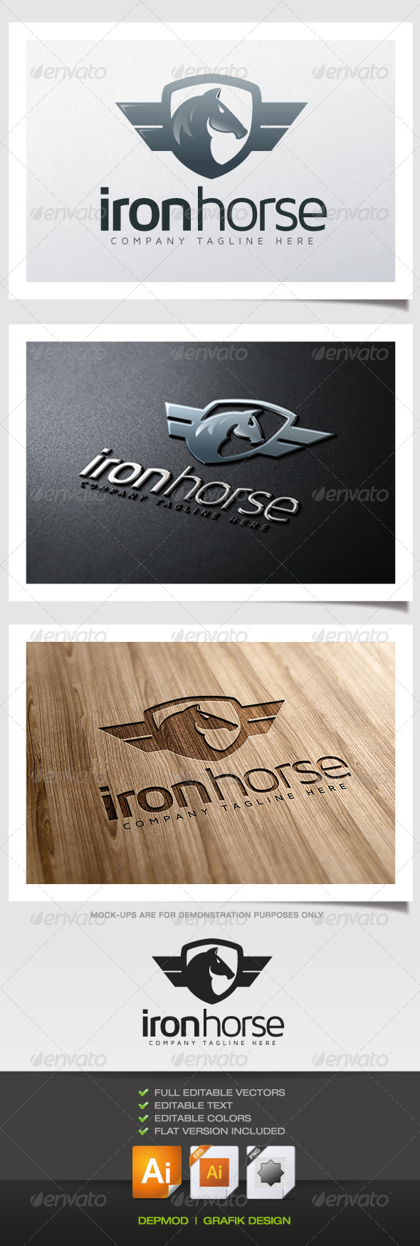 GraphicRiver Iron Horse Logo 5629000