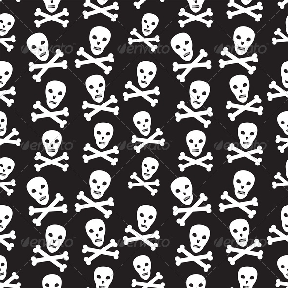 Pirate Background with Skulls