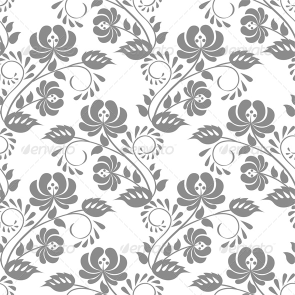 GraphicRiver Lace Floral Pattern 5629021