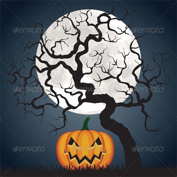 Pumpkin and Tree