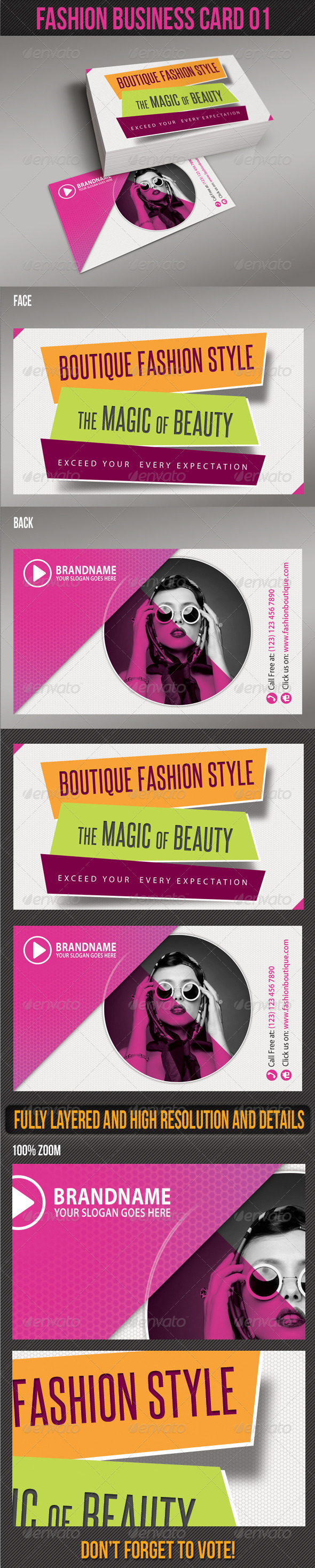 GraphicRiver Fashion Business Card 01 5629217