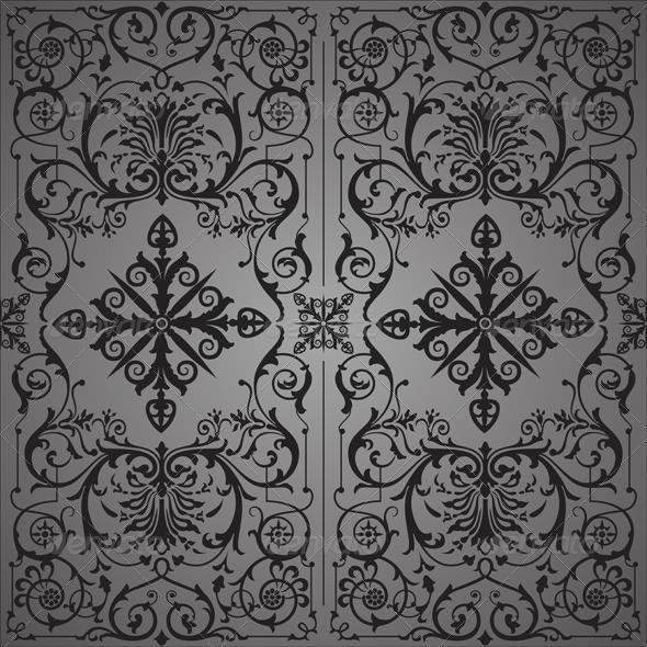 GraphicRiver Vintage Floral Background 5629374