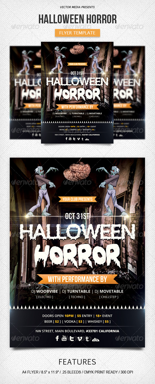 GraphicRiver Halloween Horror Flyer 5629476