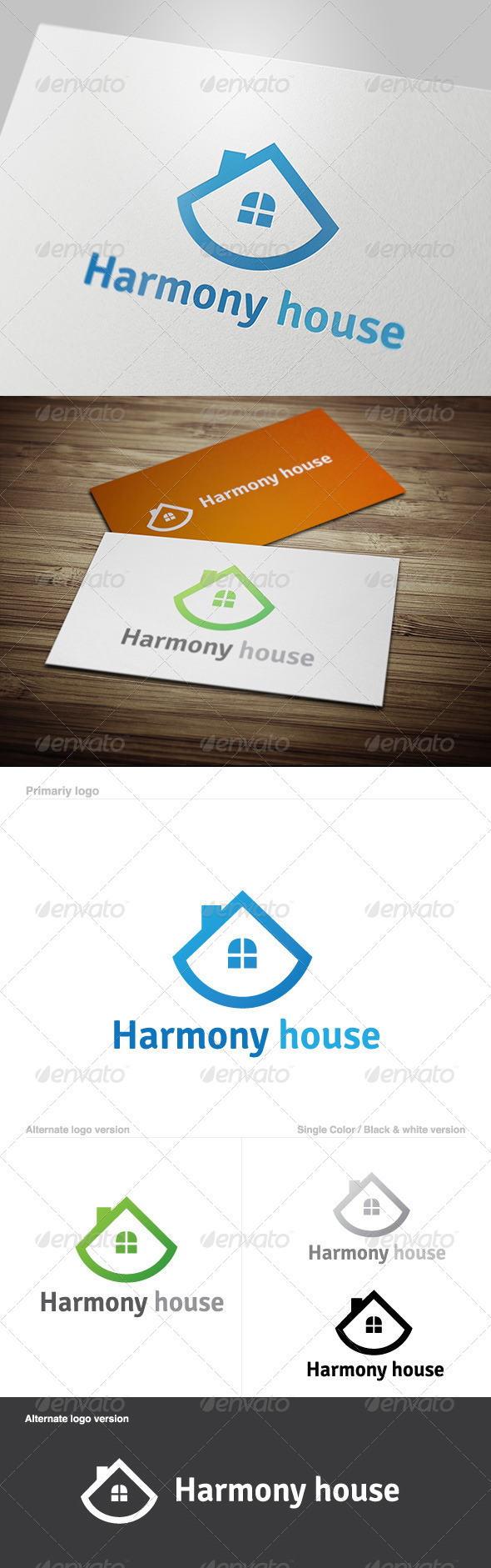 GraphicRiver Harmony House Logo 5629702