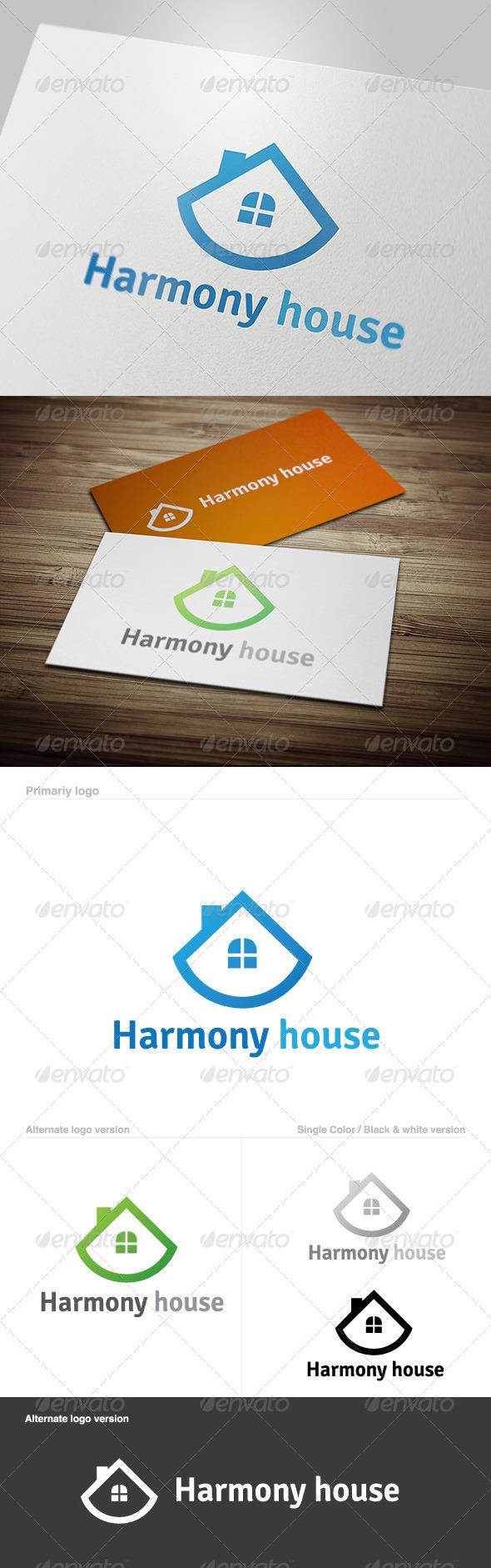 GraphicRiver Harmony House Logo 5629702