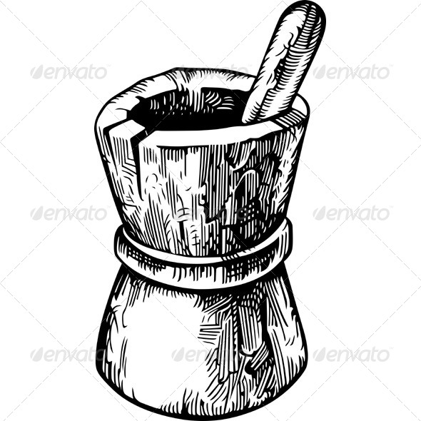 GraphicRiver Wooden Mortar and Pestle 5629711