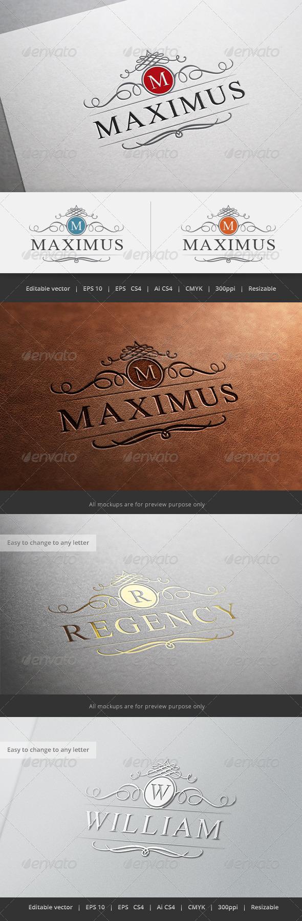 GraphicRiver Maximus Crest Logo 5630287