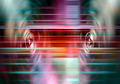 Music speakers with light streaks - PhotoDune Item for Sale