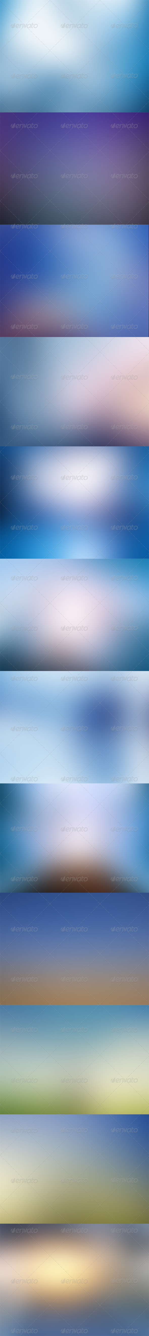 GraphicRiver Blue Blurred Backgrounds 5630447