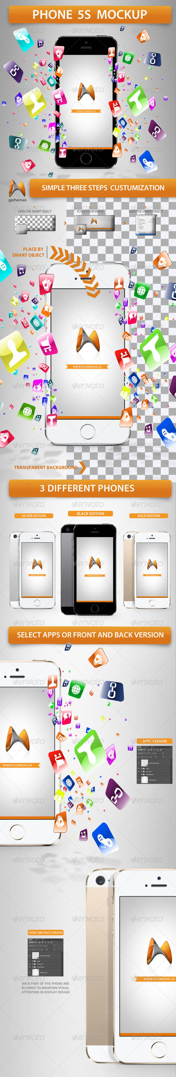 GraphicRiver Phone 5s Mockup 5625406