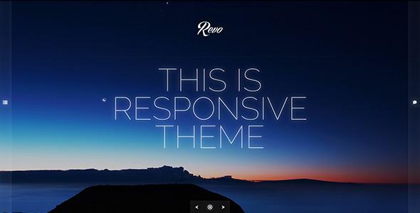 Revo - Responsive Ajaxed Minimal Portfolio