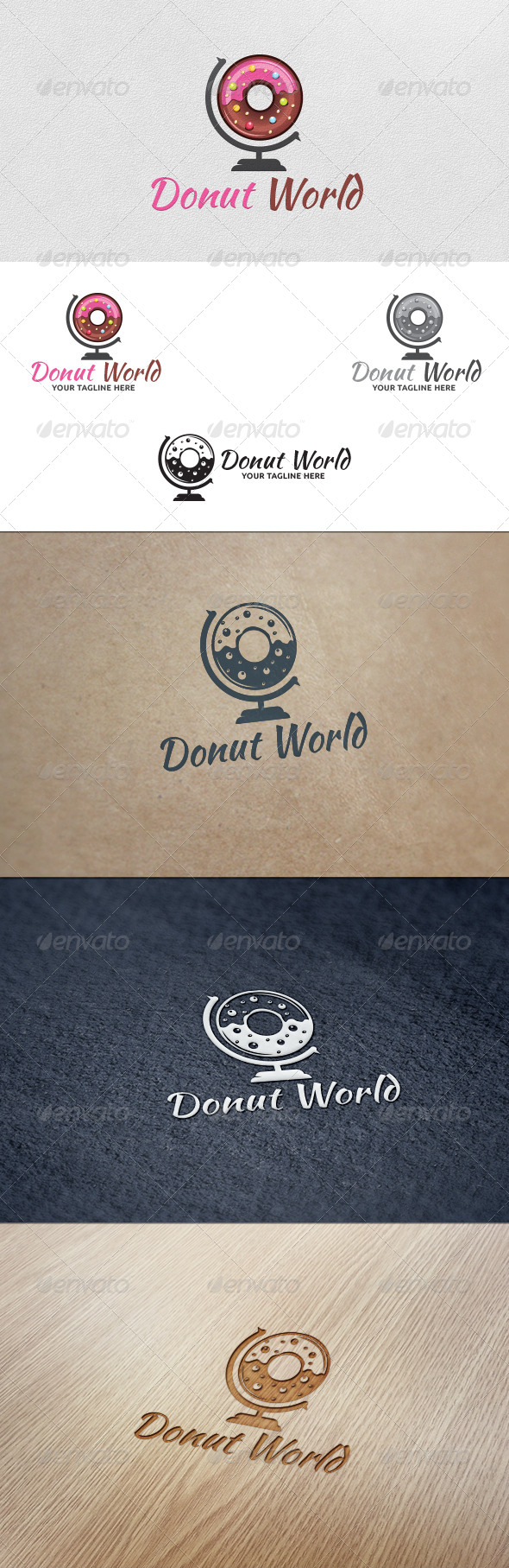 GraphicRiver Donut World Logo Template 5631021