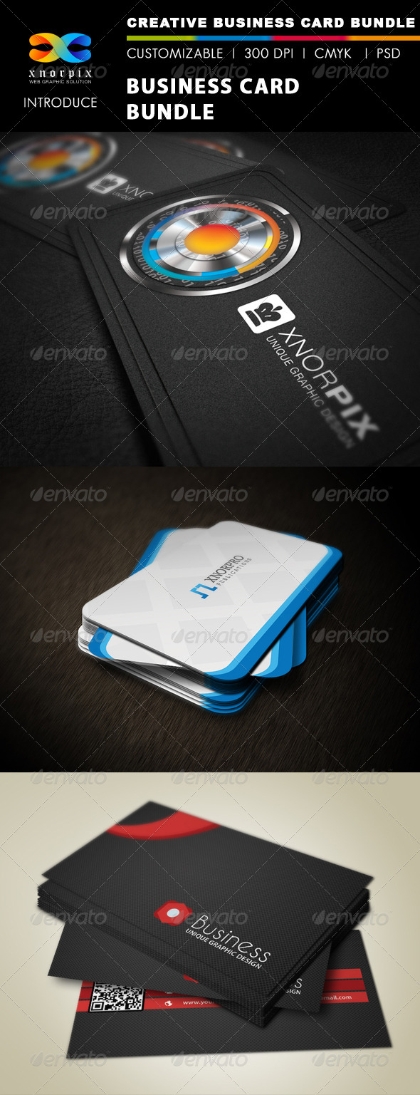GraphicRiver Business Card Bundle 3 in 1-Vol 28 5631227