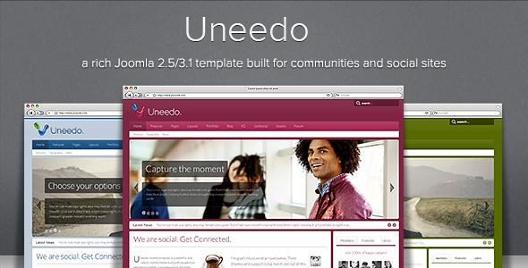 Uneedo - Responsive JomSocial Ready Joomla Template - Screenshot 01 - Uneedo Responsive Joomla Template
