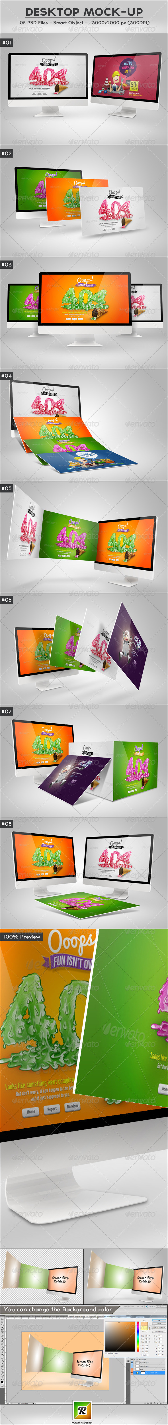 Desktop Mock-Up - Displays Product Mock-Ups