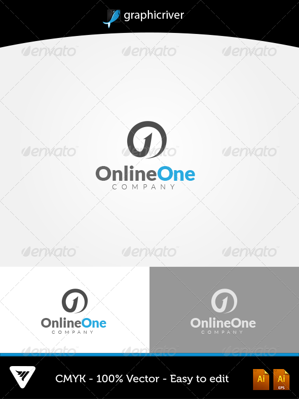GraphicRiver OnlineOne Logo 5631358
