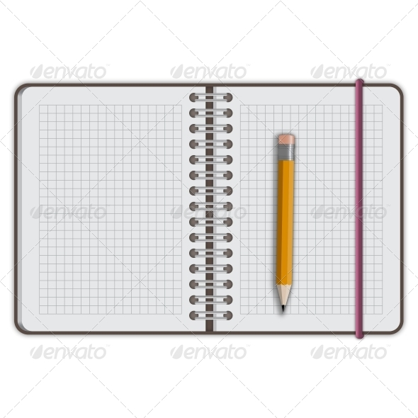 GraphicRiver Notebook Paper with Pencil 5631359