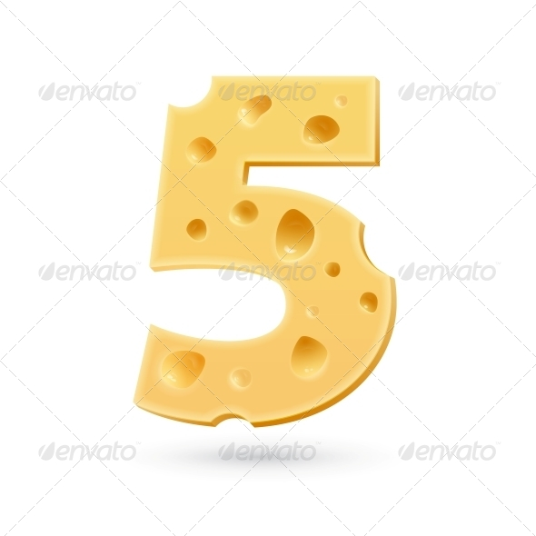 GraphicRiver Five Cheese Number 5631882