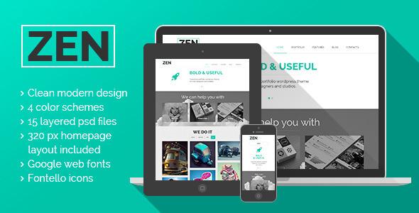 ZEN | Portfolio \ Blog \ PSD themes - Portfolio Creative
