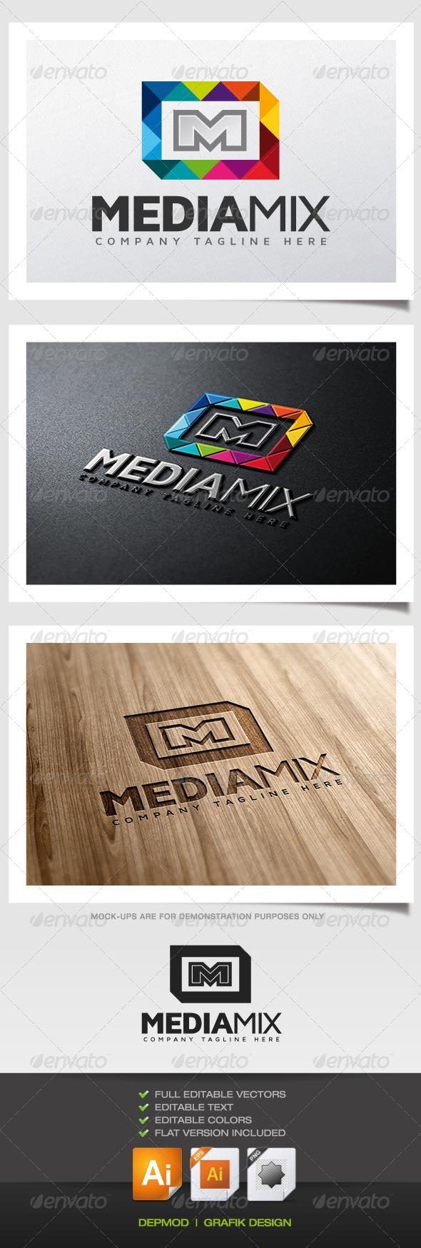 GraphicRiver Media Mix Logo 5632173