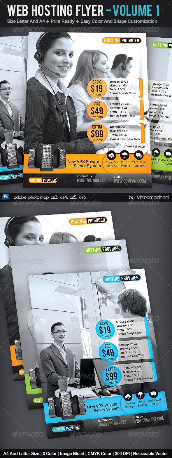 GraphicRiver Web Hosting Flyer Volume 1 5632234