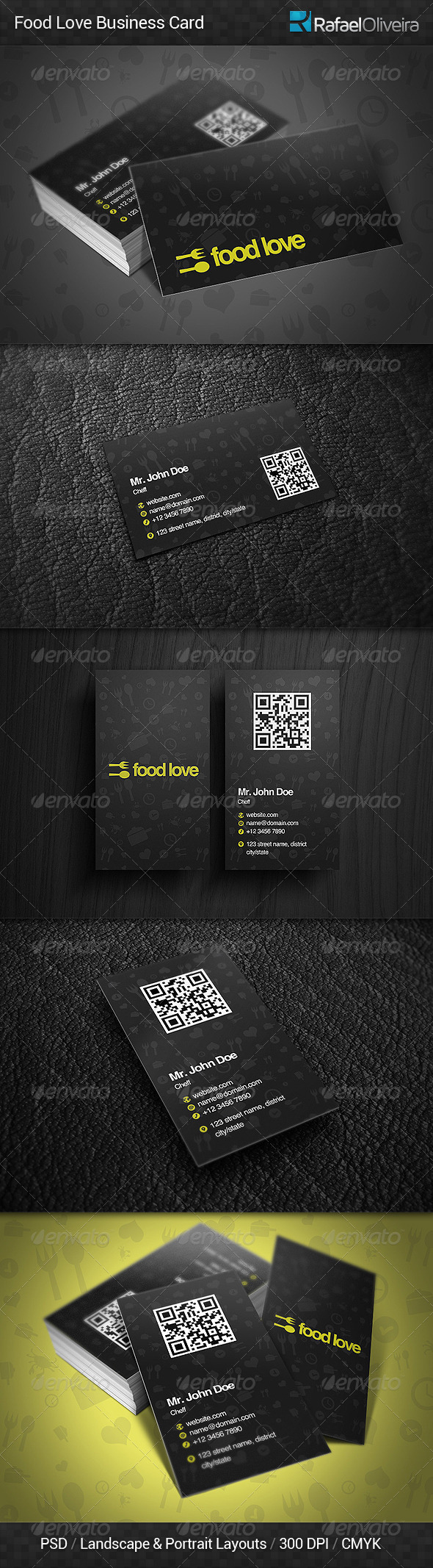 GraphicRiver Food Love Business Card 5632241