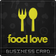 Food Love Business Card - GraphicRiver Item for Sale