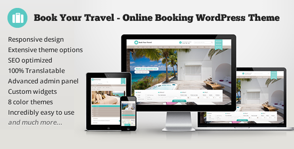 ThemeForest Book Your Travel Online Booking WordPress Theme 5632266