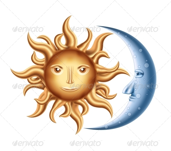 GraphicRiver Moon and Sun 5632320