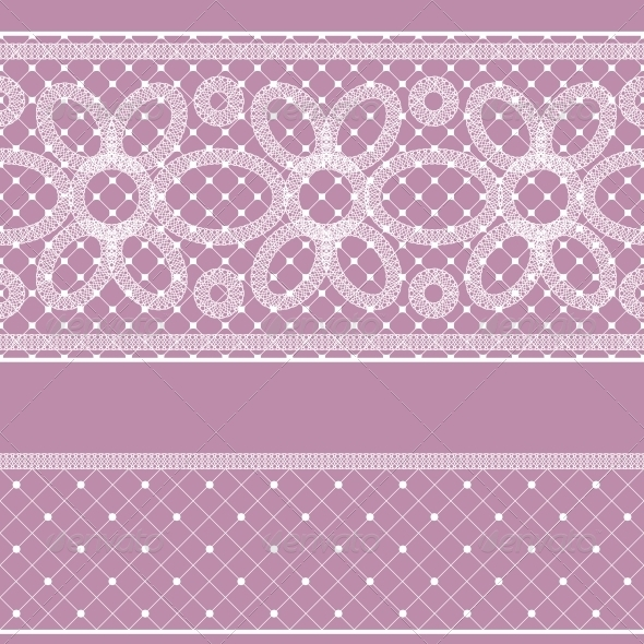 GraphicRiver Seamless Pattern with Lace for Design 5632334