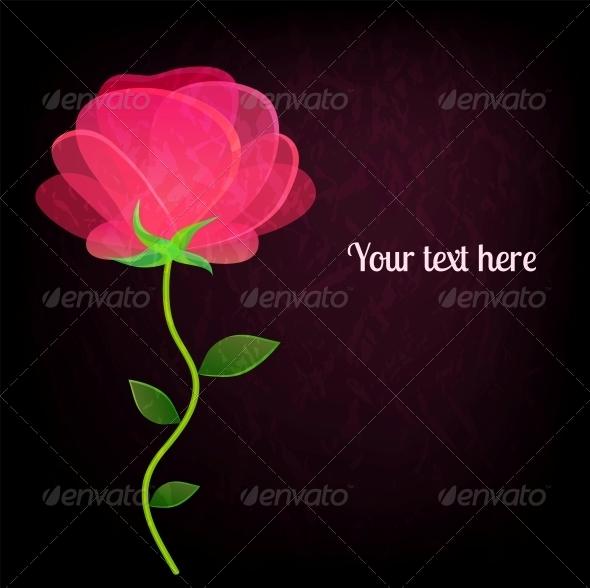 GraphicRiver Rose on Dark Background 5632374