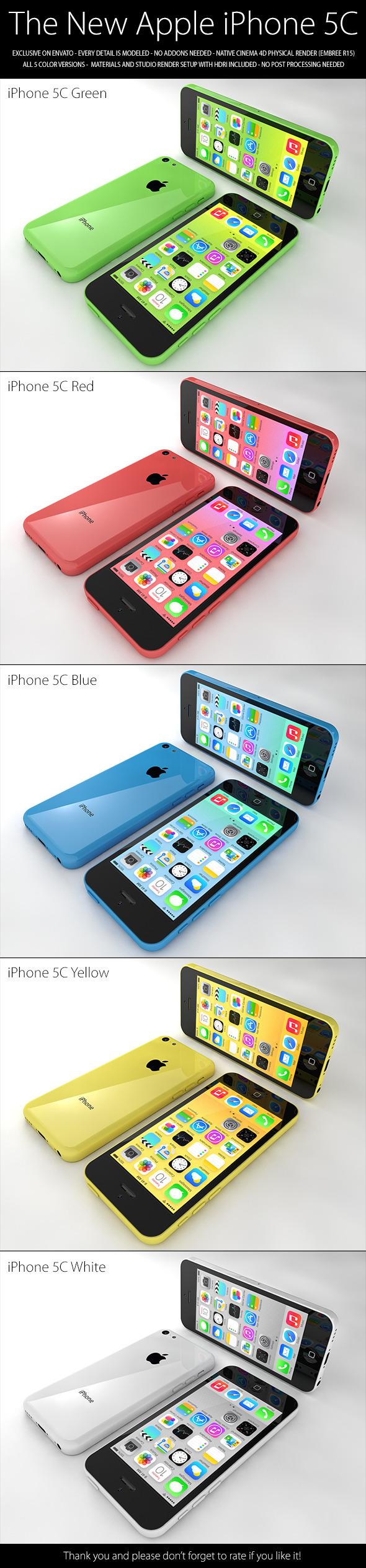 3DOcean iPhone 5C 5632380