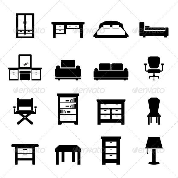 GraphicRiver Furniture Vector 5632405
