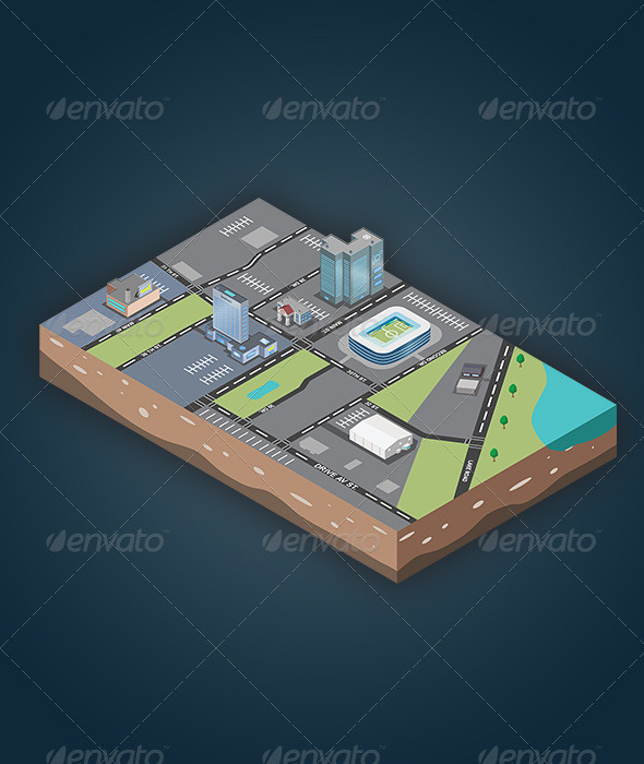 GraphicRiver Isometric Map 5624846