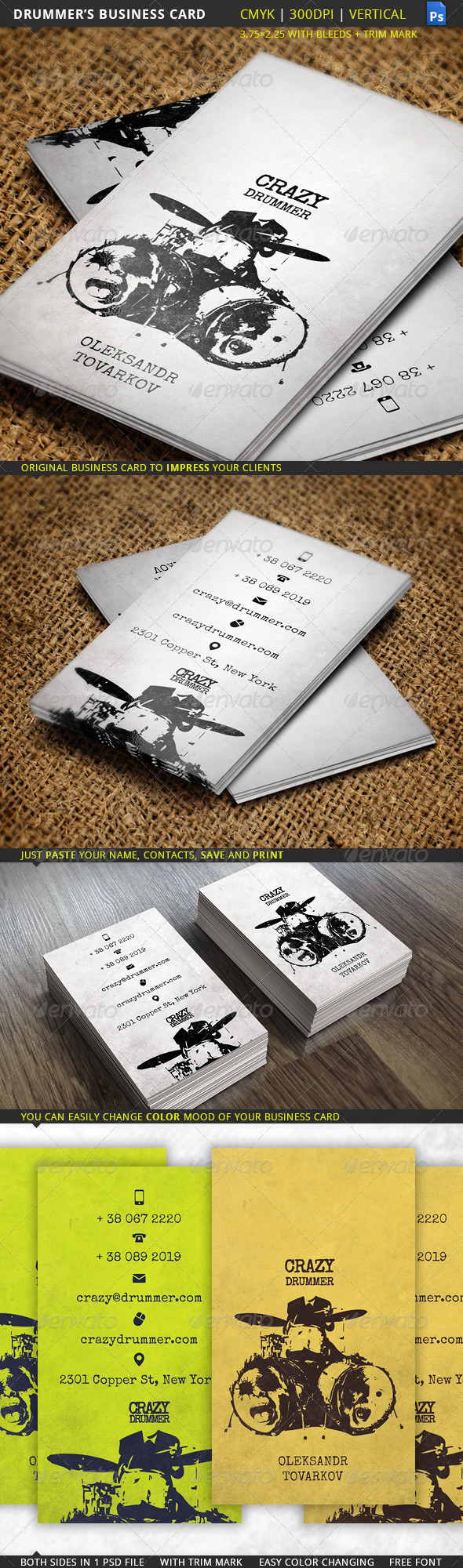 Drummer s Business Card