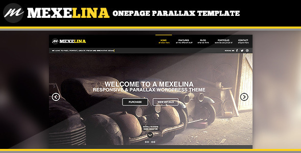 ThemeForest Mexelina Onepage Parallax Template 5573201
