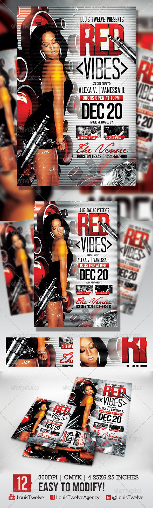 GraphicRiver Red Vibes Flyer Template 5632824