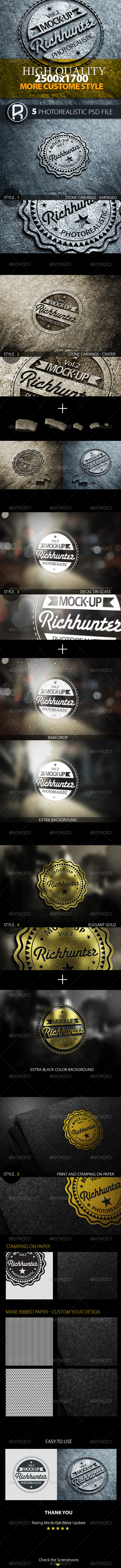 GraphicRiver Mock-Up Logo 3D Realistic Presentation Vol.2 5633350