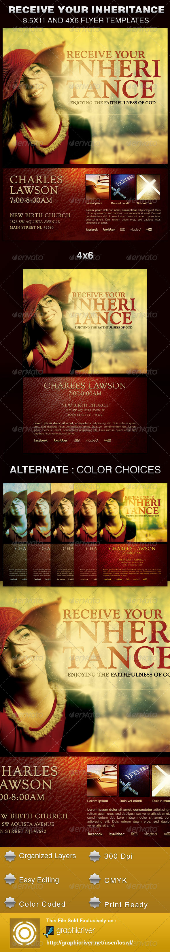 GraphicRiver Receive Your Inheritance Church Flyer Template 5633358