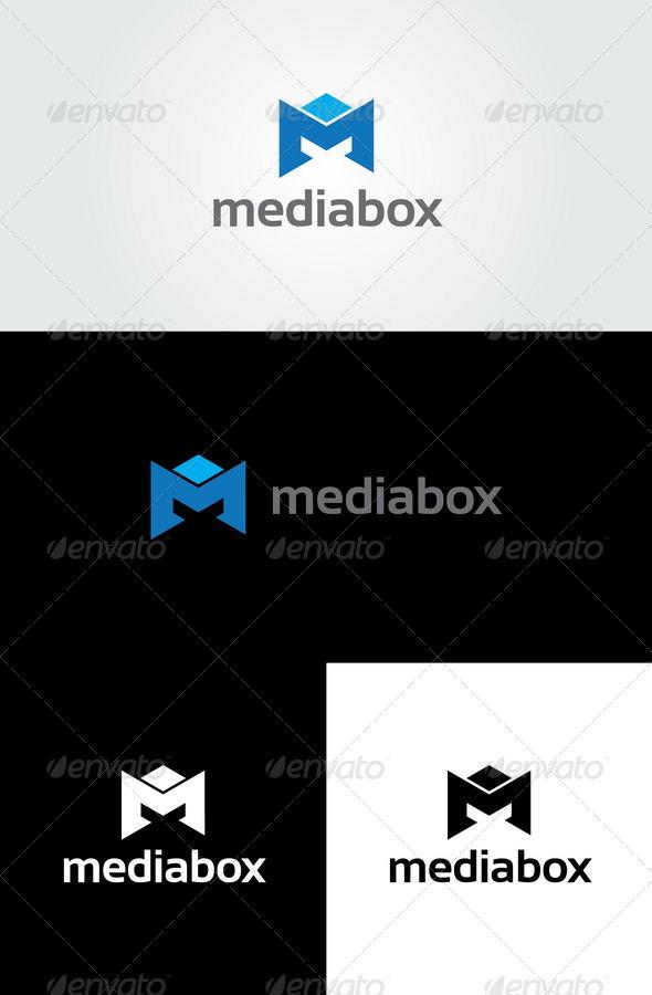 GraphicRiver Media Box Letter M Logo 5633377