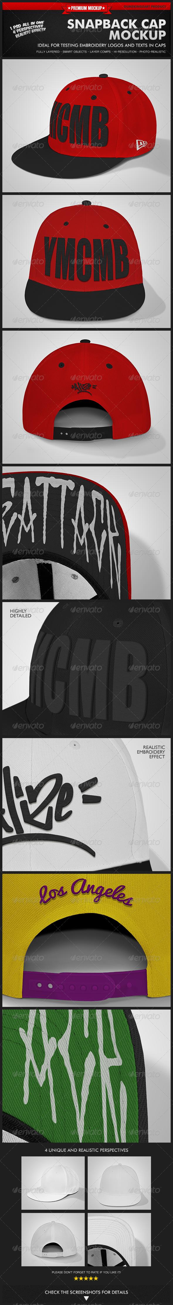 GraphicRiver Snapback Cap Mockup 5633381