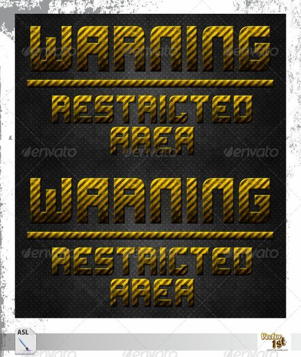 GraphicRiver Rusty Warning Plate Style 5633641