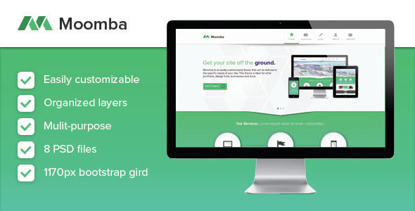 Moomba - Multipurpose PSD Template - Corporate PSD Templates
