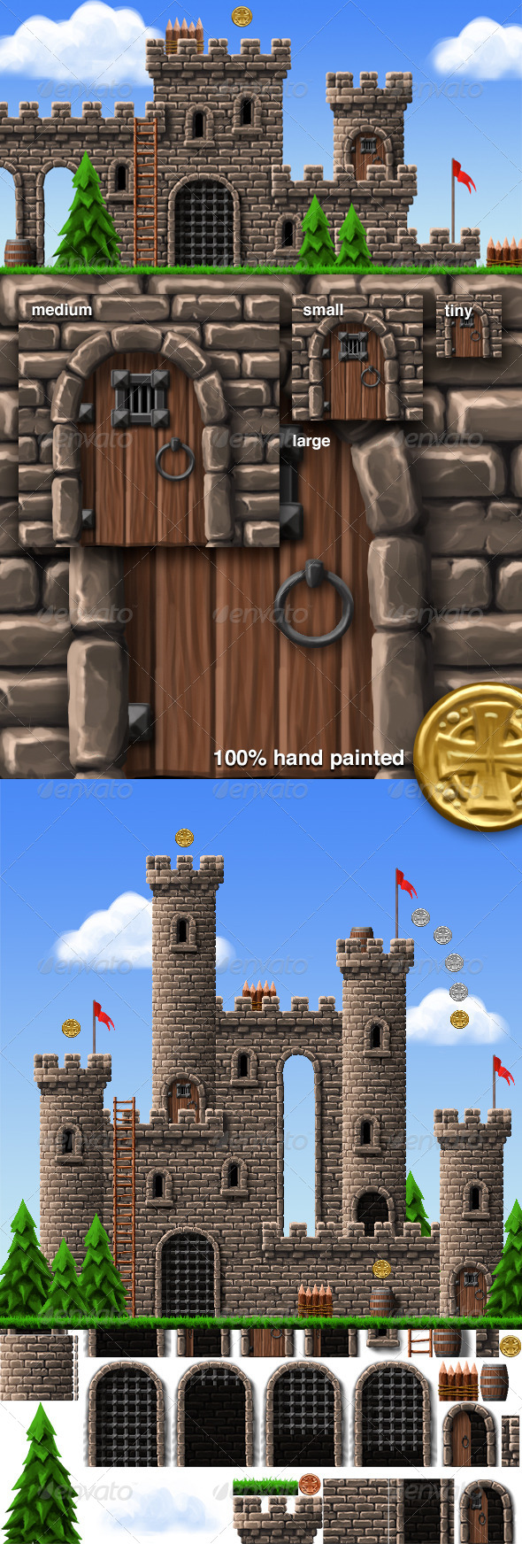 GraphicRiver Castle Platform Game Tiles & Sprites 5633823