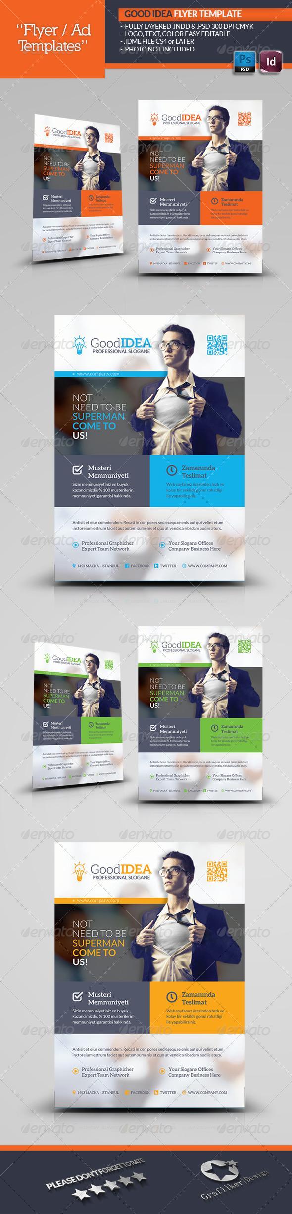 GraphicRiver Good Idea Flyer Template 5633829