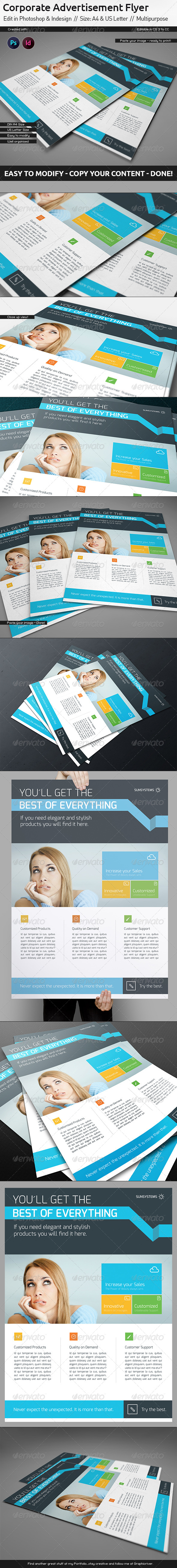 GraphicRiver Corporate Flyer Ad Template US Letter Din A4 5633842
