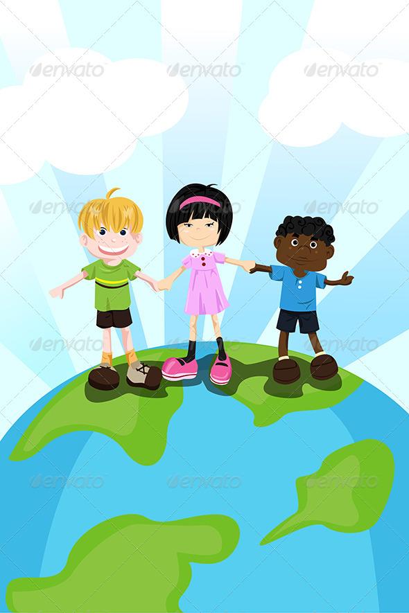 GraphicRiver Multi Ethnic Children 5634037