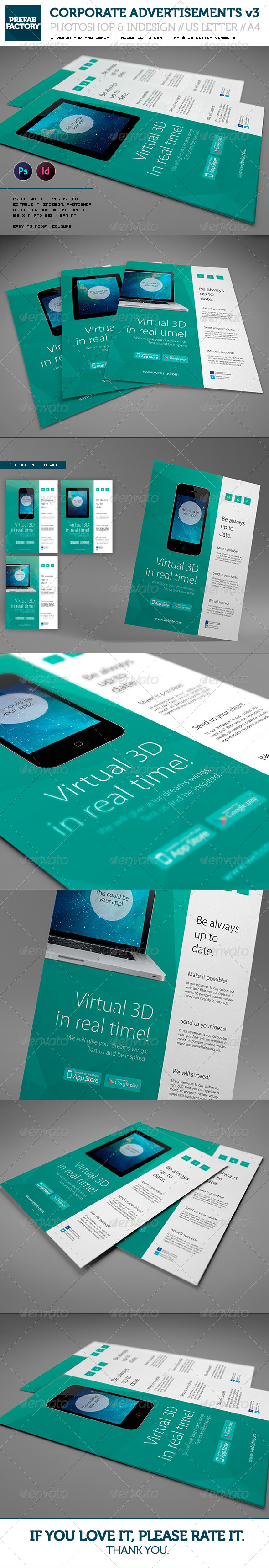 GraphicRiver Corporate App Flyer Advertisement Multipurpose 5634520