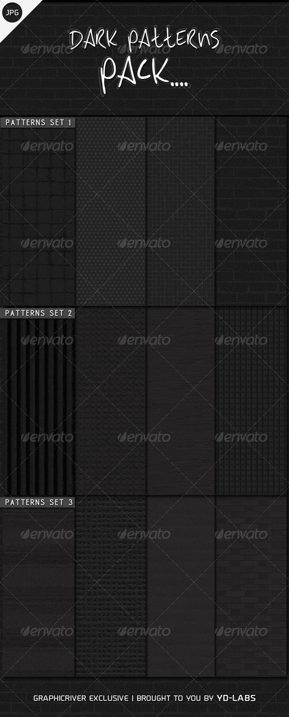 Dark Patterns Pack - Patterns Backgrounds